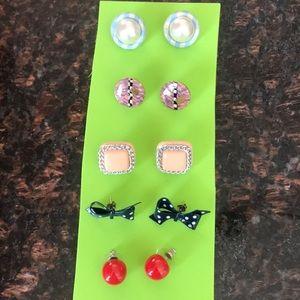 Lot of 5 pair of earrings